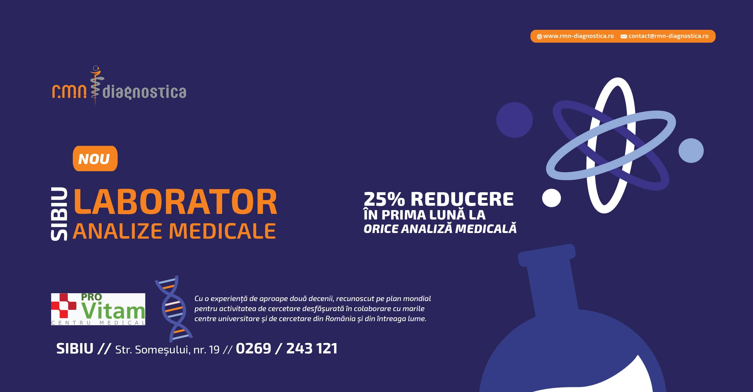Laborator analize medicale SIBIU RMN Diagnostica